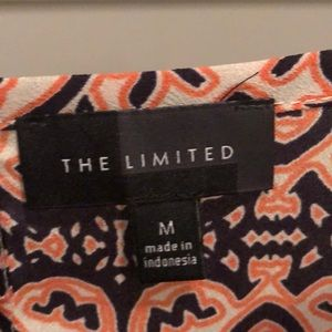 The Limited Tops - Pink, Navy, White design Cap Sleeve shirt